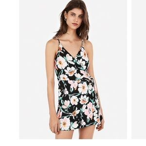 NWT Express Floral Wrap Romper Size Small